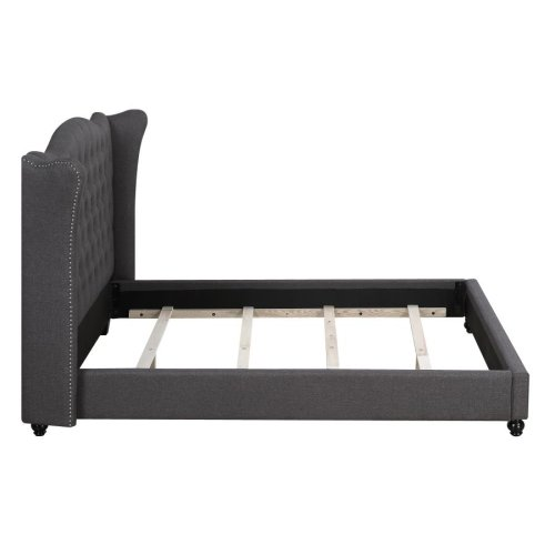 Newburgh Blue Grey Upholstered King Bed