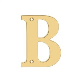 "4"" Residential Letter B - PVD Polished Brass"