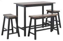 Ronin 4 PC Set Pub Table - Dark Espresso / Black