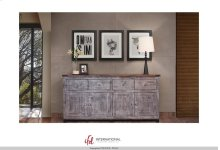 4 Drawer, 4 door console - Silver finish