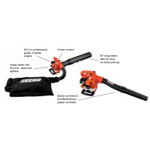 ECHO ES-250 Easy Starting Leaf Vacuum Leaf Blower Shred N Vac