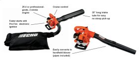 ECHO ES-250 Easy Starting Leaf Vacuum Leaf Blower Shred N Vac