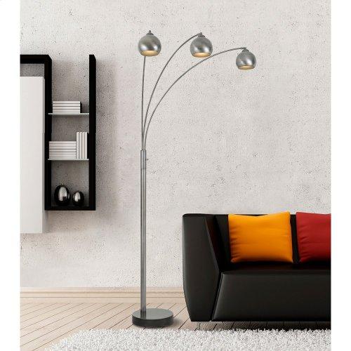 60W X 3 Light Metal Arc Floor Lamp