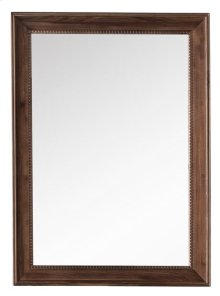"Bristol 29"" Rectangular Mirror, Mid Century Walnut"