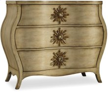 Sanctuary Three Drawer Bombe Chest