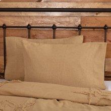 Burlap Natural Standard Pillow Case Set of 2 21x30