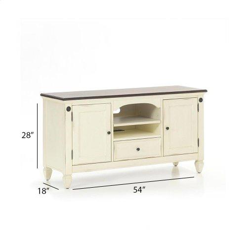 "Living Room - Glennwood 54"" TV Console  White & Charcoal"