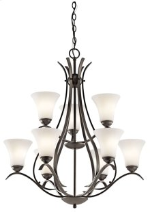 Keiran 9 Light 2 Tier Chandelier Olde Bronze®