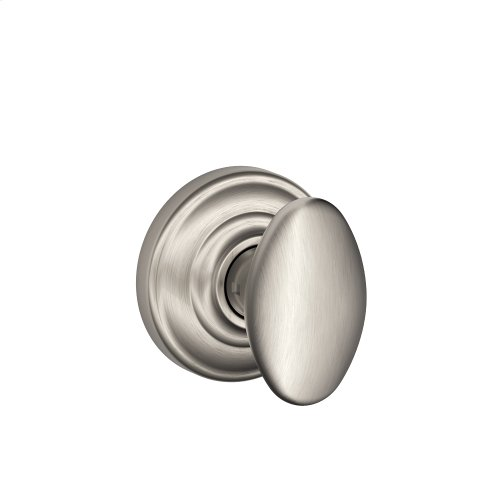 Siena Knob with Andover trim Non-turning Lock - Satin Nickel