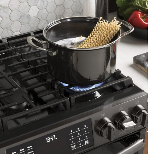 GE BLACK STAINLESS FOUR PIECE PACKAGE