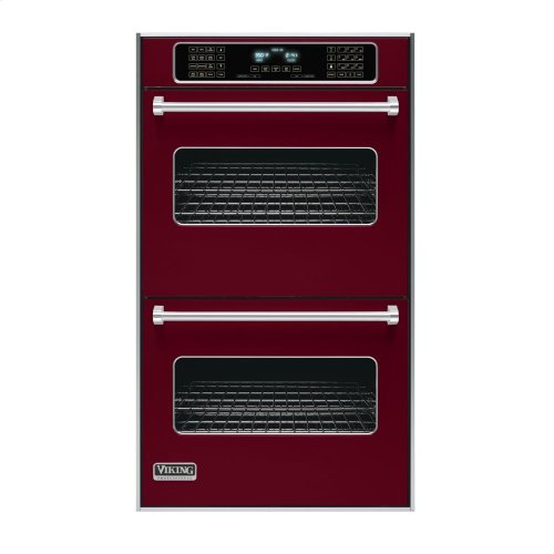 """Burgundy 30"""" Double Electric Touch Control Premiere Oven - VEDO (30"""" Wide Double Electric Touch Control Premiere Oven)"""