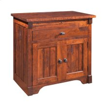 Nightstand with Drawer and Doors