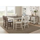 "Cayla Two Tone Kitchen Cart, Dark Oak& White, 50""x28""x36"" Product Image"
