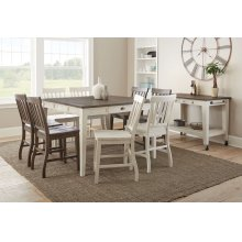 "Cayla Counter Chair, White 19""x25""x41.5"""