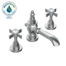 Savina Widespread Lavatory Faucet Cross Handles - Polished Chrome
