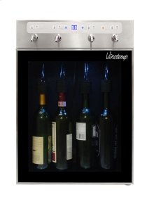 "The Vinotemp WineSteward "" Four-Bottle Wine Dispenser (Stainless)"