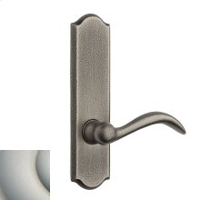 Satin Nickel with Lifetime Finish Rustic L028 Lever Screen Door