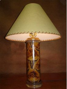 Longhorn Leather Lamp