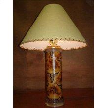 Longhorn Leather Lamp