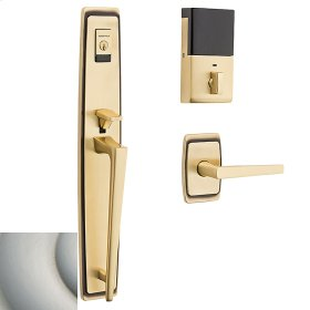 Satin Nickel with Lifetime Finish Evolved Palm Springs Full Escutcheon Handleset