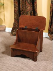 """Woodbury Mahogany"" Bed Steps with Storage Product Image"