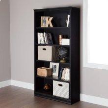 5-Shelf Bookcase - Black Oak