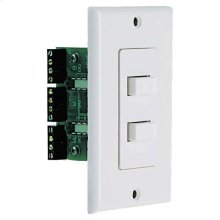 White, Wall-Mount A,B or A+B Selector for Two Pairs of Speakers-White AB-2D