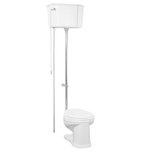 Victoria High Tank Toilet - Polished Chrome