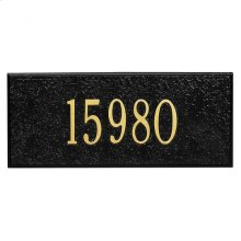 Mailbox Side Panel 1 LN Black/Gold