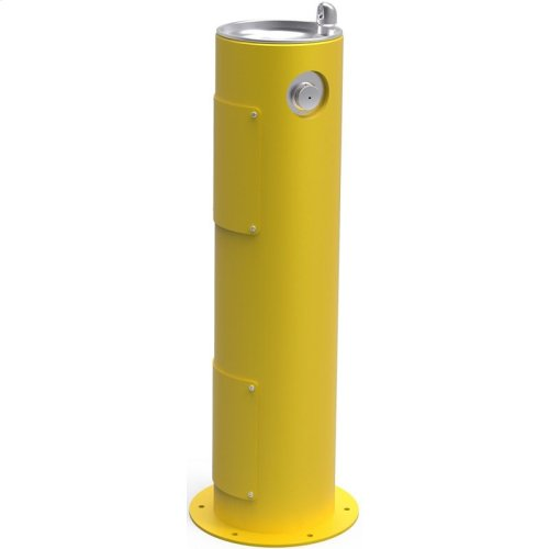 Elkay Outdoor Fountain Pedestal Non-Filtered, Non-Refrigerated Yellow