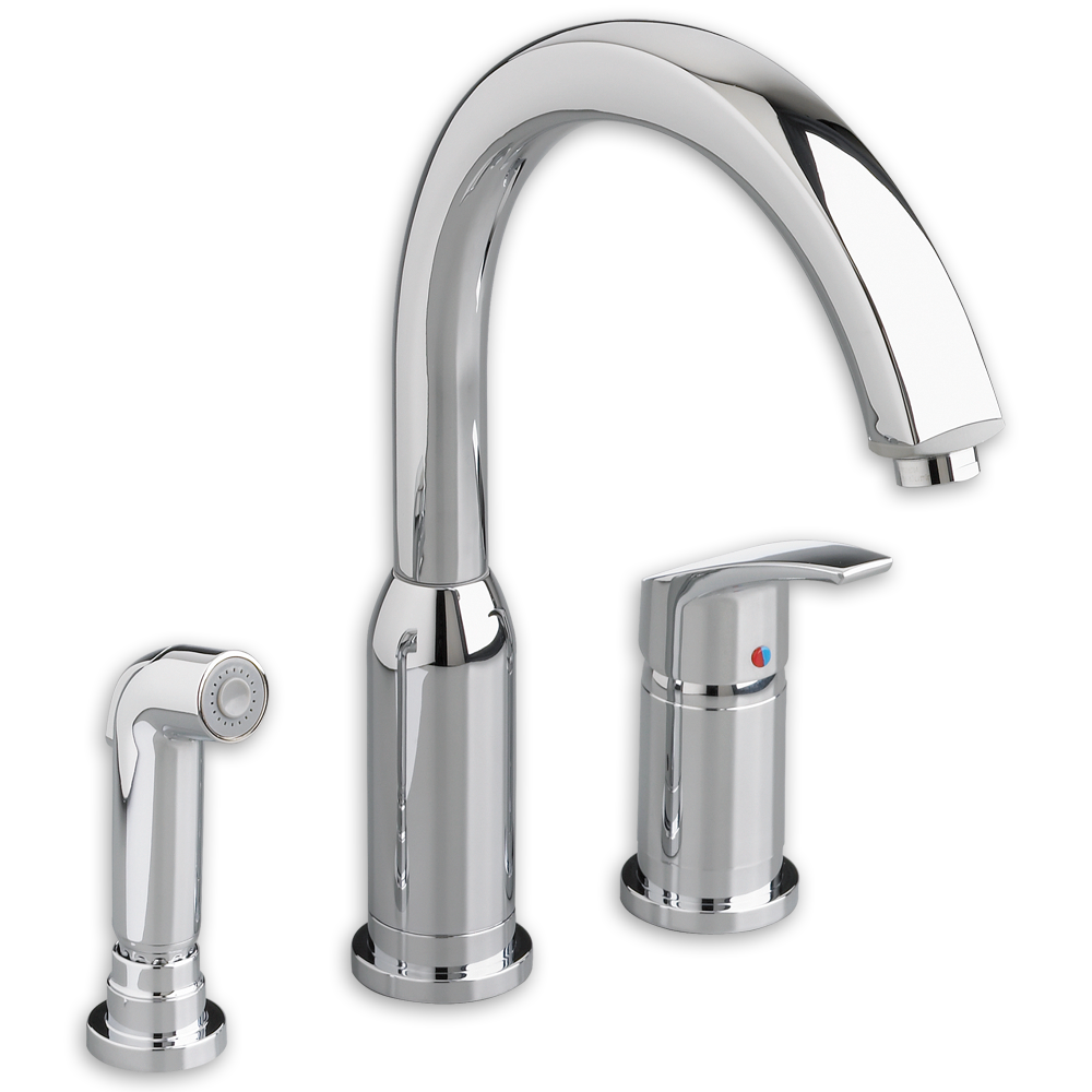 Arch Single Handle High Arc Kitchen Faucet With Side Spray American  Standard   Polished Chrome