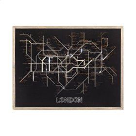 Tubetime Wood Framed Wall Decor In Grey And Black