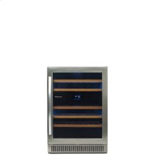 46-bottle Freestanding or Built-in Dual Zone Stainless Steel Wine Cooler