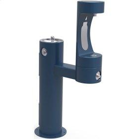 Elkay Outdoor ezH2O Bottle Filling Station Bi-Level Pedestal, Non-Filtered Non-Refrigerated Freeze Resistant Blue