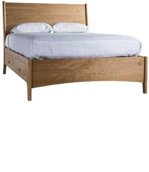 Brancusi Sleigh Storage Bed - Single