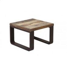 Coffee table 65x65x45 cm CUENCA railway wood