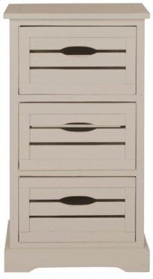 Samara 3 Drawer Cabinet - Grey