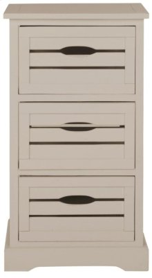 Samara 3 Drawer Cabinet - Grey
