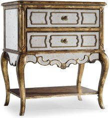 Sanctuary Mirrored Leg Nightstand-Bling