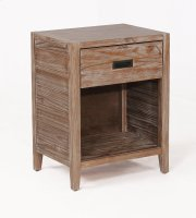 Alstad Solid Wood Nightstand - Pine Cone Product Image