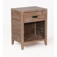 Alstad Solid Wood Nightstand - Pine Cone