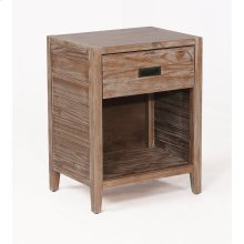 Alstad Solid Wood Nightstand - Pine Cone