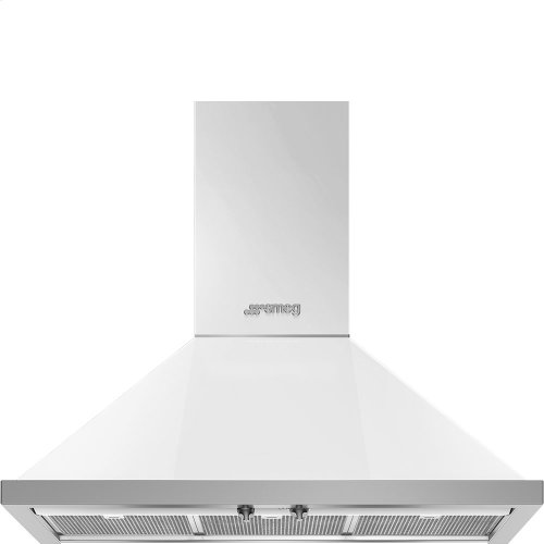 "36"" Portofino, Chimney Hood, White"