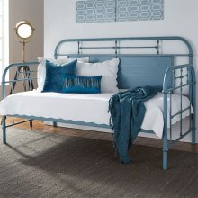 Twin Metal Day Bed - Blue
