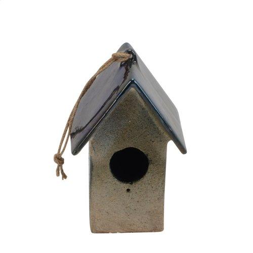 """Ceramic Hanging Bird Feeder10"""", Multicolor"""