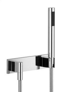 Hand shower set with cover plate - matt black