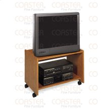 "STAND/TV ON CASTERS WOOD OAK/F 25""TV """