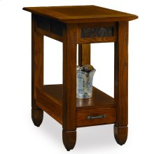 Slatestone Rustic Oak Chairside Table #10906
