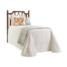 Island Breeze Rattan Headboard Twin Headboard