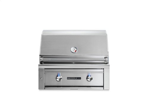 """30"""" Sedona by Lynx Built In Grill with 1 Stainless Steel Burner and ProSear Burner, LP"""